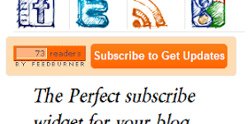 Sosial Media Widget Buatan Tangan dengan Feedburner dan Subscribe Button