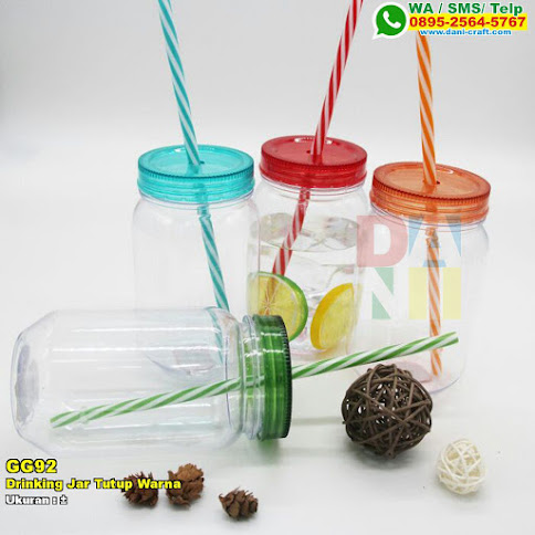 Drinking Jar Tutup Warna