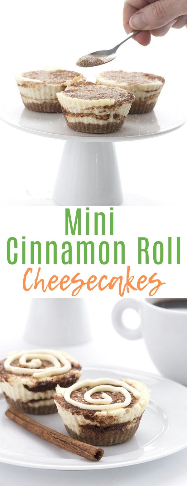 Mini Cinnamon Roll Cheesecakes #cinnamonroll #dessert