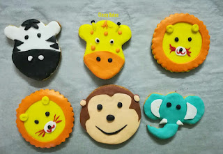 jungle theme cookies