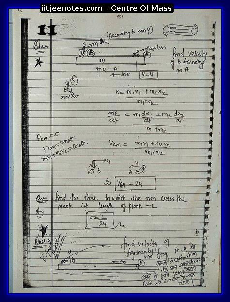 Center Of Mass Notes 1