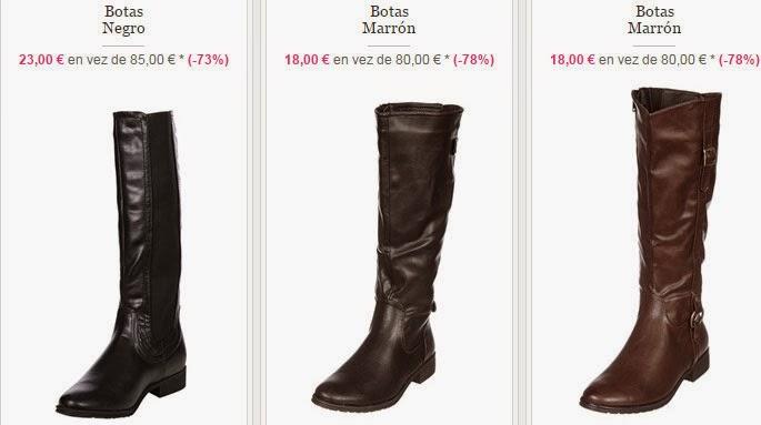 Algunos de los modelos de botas que encontrarás en el interior de la oferta