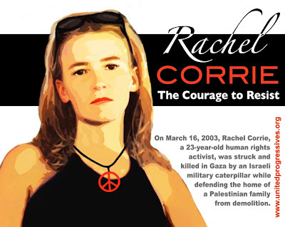 Rachel Corrie, the courage to resist