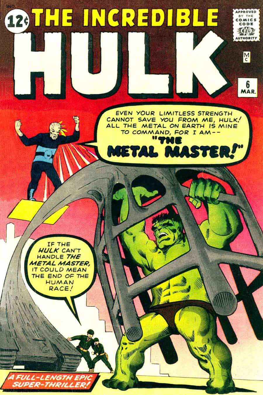 Incredible Hulk v1 #6 marvel comic book cover art by Steve Ditko