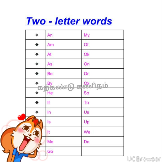 ENGLISH WORKSHEETS@kdy: TWO LETTER WORDS