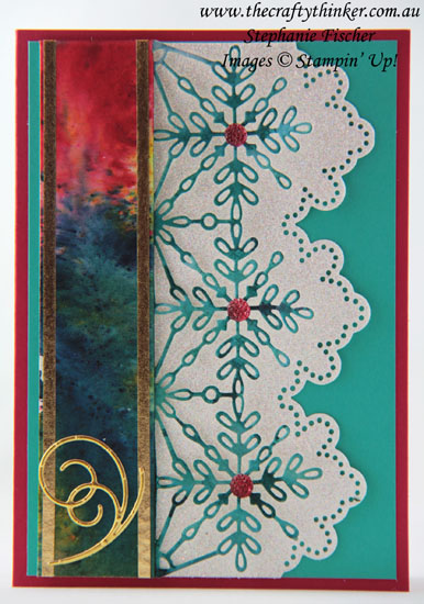 #thecraftythinker, #brushocrystalcolour, #christmascard, #cardmaking, #stampinup, Brusho Crystal Colour, Christmas card, Sneak Peek 2018 Occasions, Stampin' Up Australia Demonstrator, Stephanie Fischer, Sydney NSW
