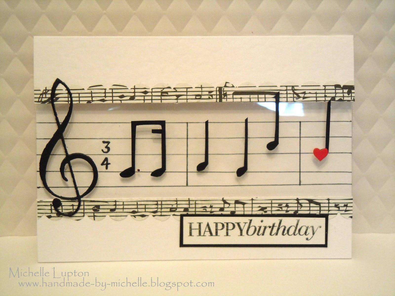 Handmade by Michelle: Musical happy birthday