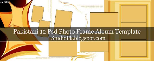 Pakistani 12 Psd Photo Frame Album Design