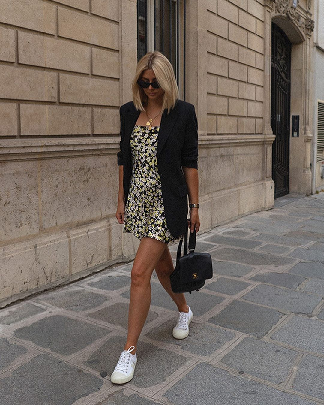 We Love This Casual Way to Style a Floral Dress