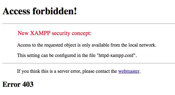Mengatasi Error Access Forbidded XAMPP phpMyAdmin