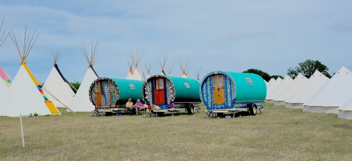 You might come across these fixtures at a popular festival as they provide an excellent alternative to camping. - These Gypsy Caravans Are All Your Hippy-Dreams Come True, Especially The Inside.