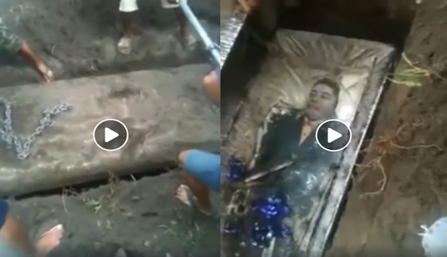 Bongkar Kuburan Kakek Yang Sudah 15 Tahun, Kondisi Mayatnya Sungguh Menakjubkan