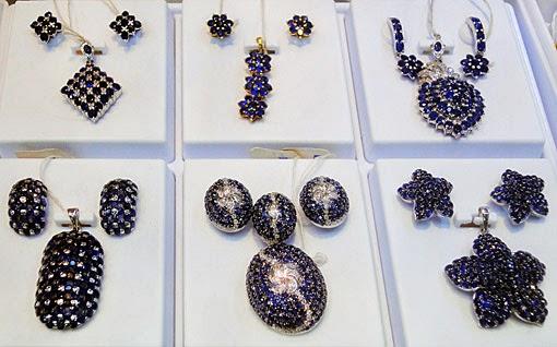 Gorgeous sapphire jewelry