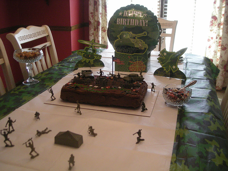 Cutting Coupons In KC Army Men Birthday Cake Camouflage Punch Recipe