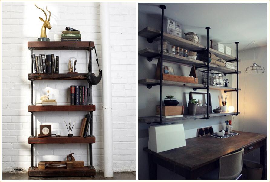 Industrialne Lampy Półki Z Rur Blog Wnętrzarski