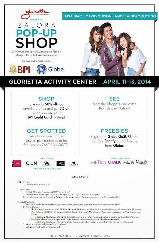 "Zalora first ever ""Pop-Up"" Shop"