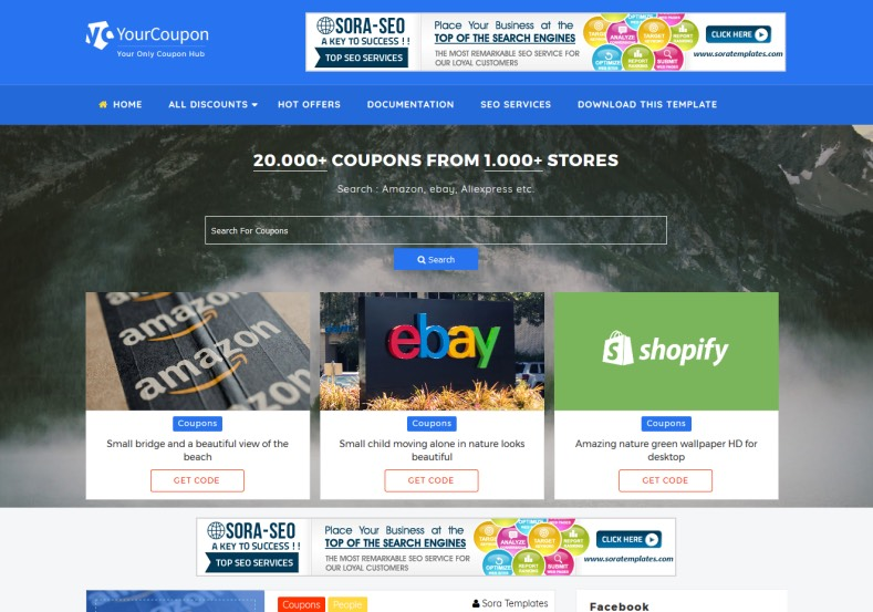 Your Coupon Blogger Template High Quality Free Blogger Templates