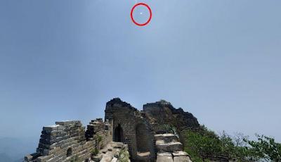 nouvel ordre mondial | Google Maps: des OVNI au-dessus de la Grande Muraille de Chine