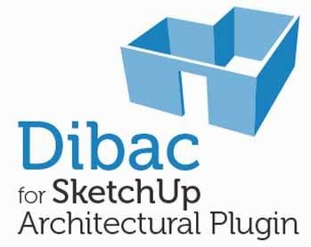 387) Plugin Dibac SketchUp merubah 2d ke 3d Otomatis