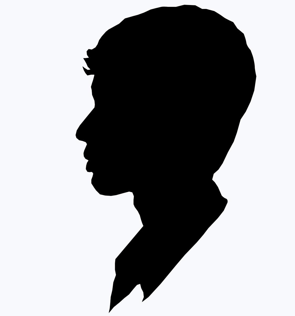 Contoh Gambar Batik Tanpa Warna: Siluet Wajah, Siluet Murah, Siluet Pria, Siluet Wanita