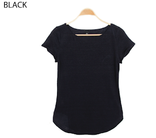 Ann Taylor Lined Round Neck Tee black