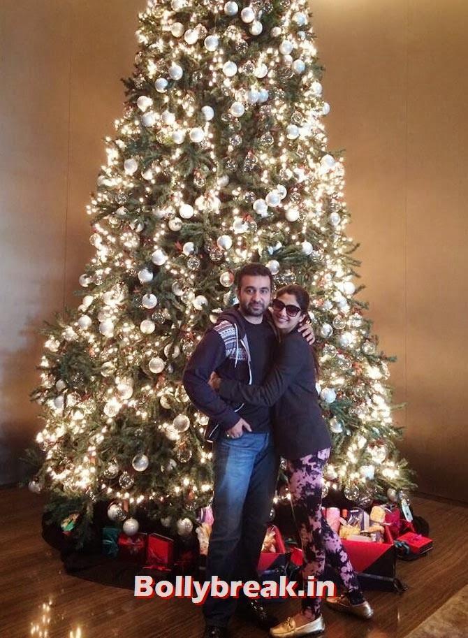 Raj Kundra and Shilpa Shetty, Bollywood celebs Christmas Pictures