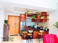 Thuê chung cư Saigon Pearl 2 phòng ngủ - không gian bếp quầy bar