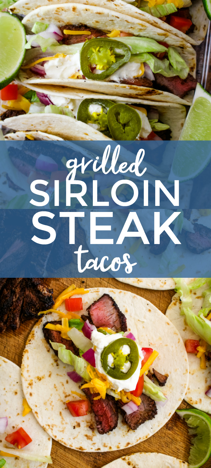 Grilled Sirloin Steak Tacos | The Two Bite Club | #tacos #steaktacos #grillingrecipe
