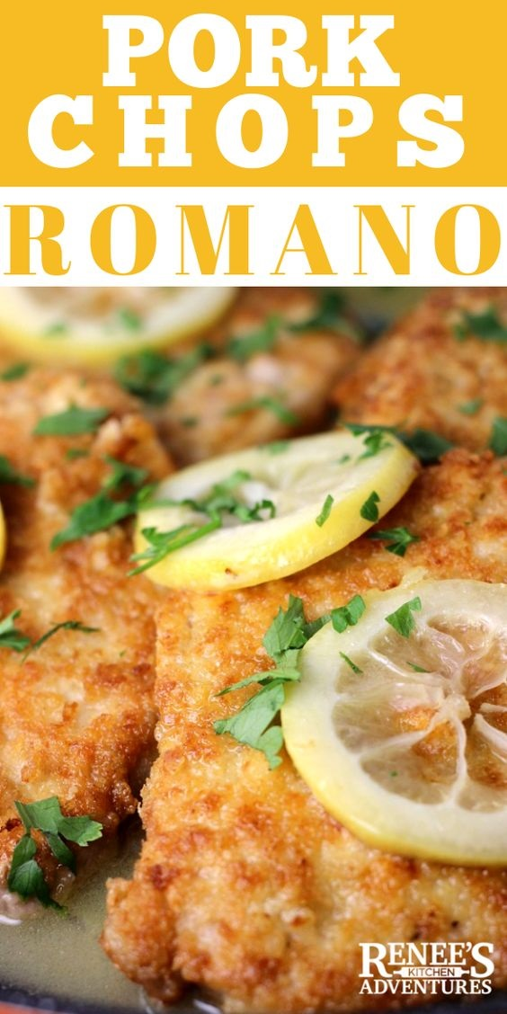 Pork Chops Romano In Lemon-Butter Sauce