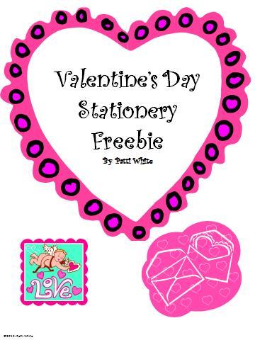 Valentine S Day Stationery Freebie Classroom Freebies