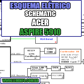 Esquema Elétrico Notebook Acer Aspire 5910 Laptop Manual de Serviço  Service Manual schematic Diagram Notebook Acer Aspire 5910 Laptop   Esquematico Notebook Acer Aspire 5910 Laptop