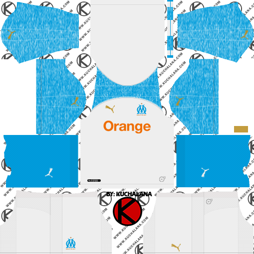 online store bd07f 8df56 Olympique de Marseille 2018/19 Kit - Dream League Soccer ...