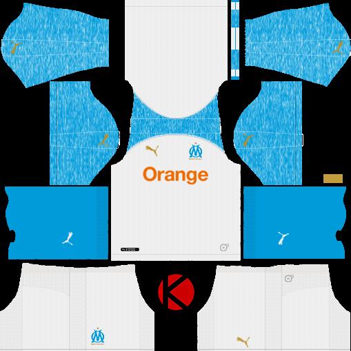 Olympique de Marseille 2018/19 Kit - Dream League Soccer Kits