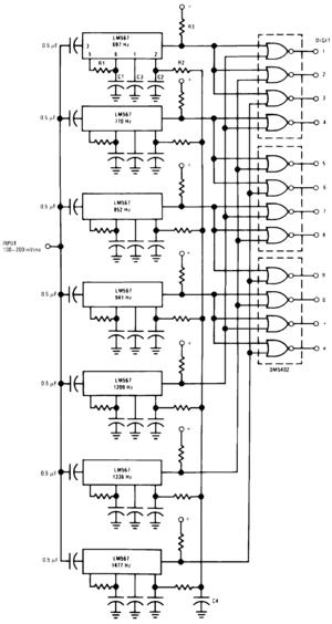 lm567cn lm567 567 tone decoder pll ic