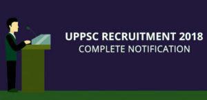 UPPSC Recruitment 2018 - 1,105 Vacancies for AMO, ARO