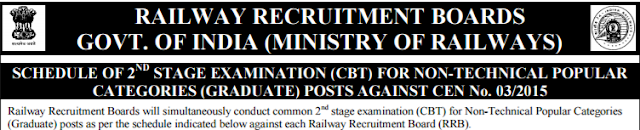 Railway NTPC Mains Exam Date, RRB NTPC Exam Date, RRB NTPC 2nd Stage Exam Date, RRB Non Technical Mains Exam Date, ASM, Goods Guard Mains Exam Date