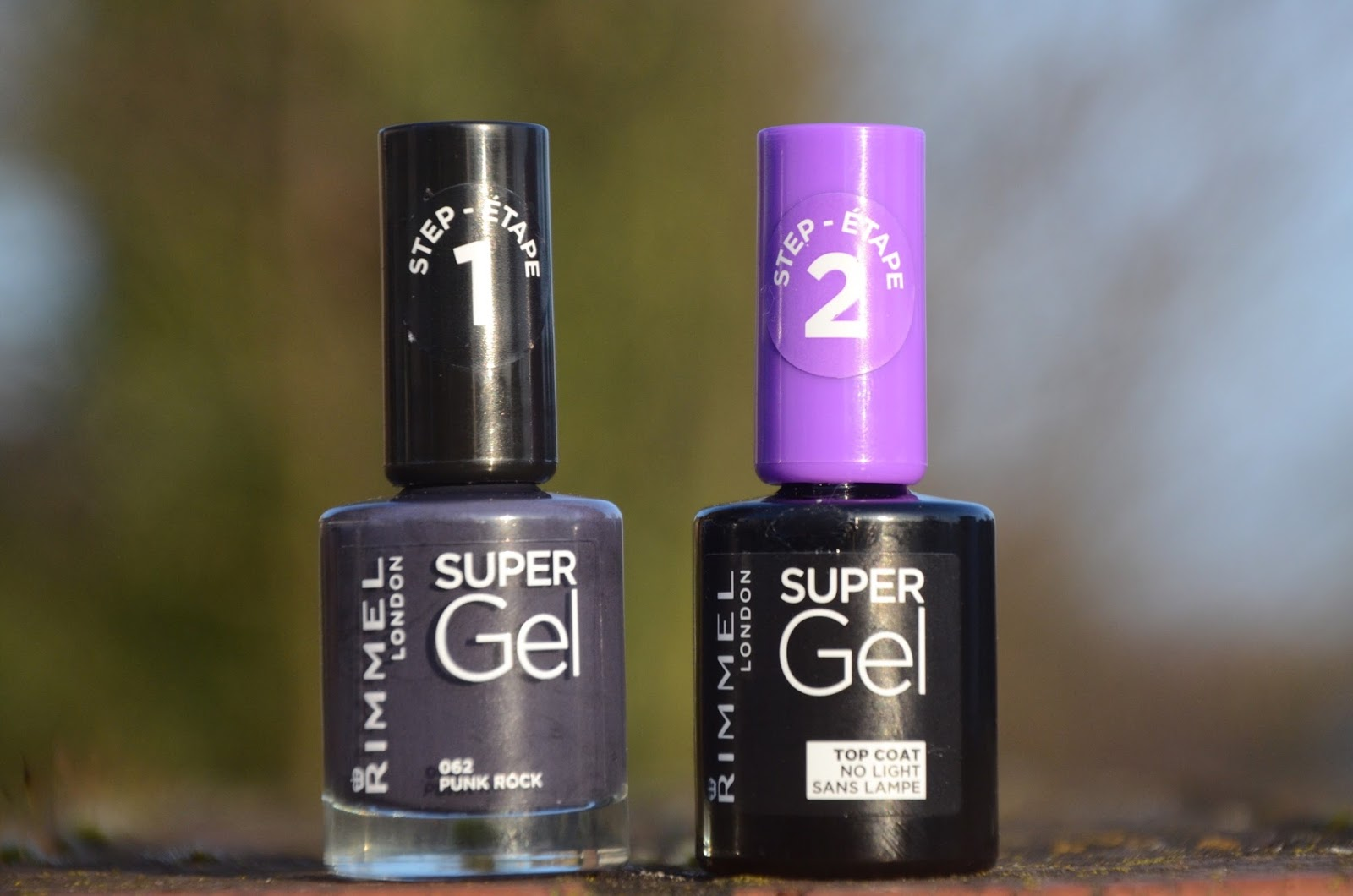 Rimmel London Super Gel in Punk Rock and Rimmel London Super Gel Top Coat