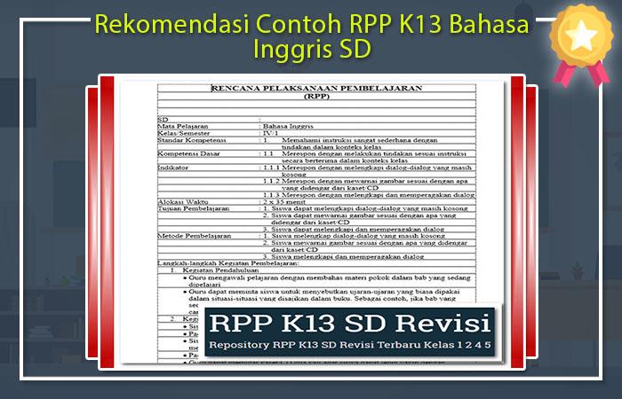 RPP Bahasa Inggris SD Kurikulum 2013