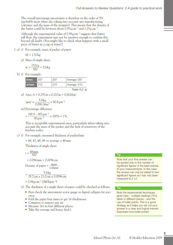 Edexcel gce O Level physic Sample Paper