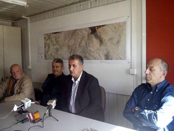 Ο Αντιδήμαρχος Καστοριάς Χρ. Παρχαρίδης στο εργοτάξιο της ΕΓΝΑΤΙΑΣ Α.Ε & στο Καλοχώρι