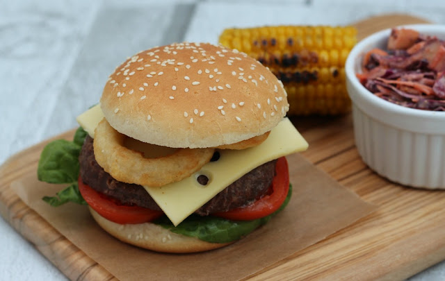 Fully Loaded Wagyu Burger With Spicy Coleslaw #PowerOfFrozen