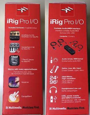 Die Seiten der iRig Pro Verpackung