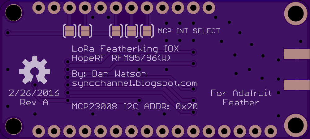 The Sync Channel Blog: LoRa FeatherWing IOX for Adafruit Feather