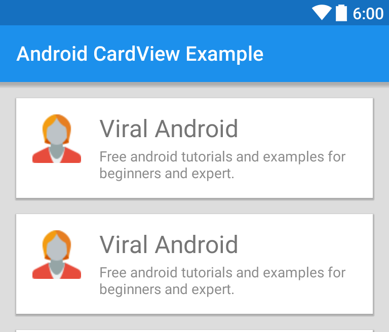 Android CardView Example | Viral Android – Tutorials, Examples, UX