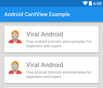 Android Example: How to Implement CardView in Android