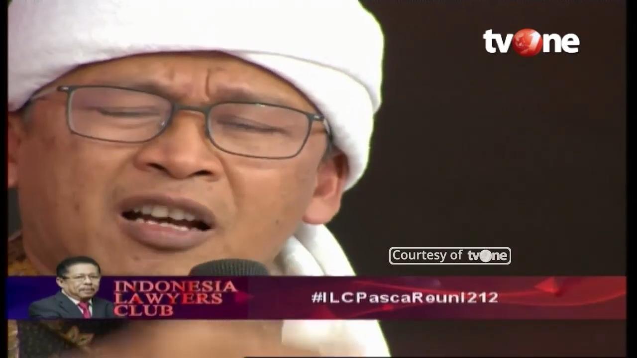Terkesan Meremehkan, Begini Ekspresi 3 Pendukung Jokowi Saat Aa Gym Tampil di ILC Reuni 212