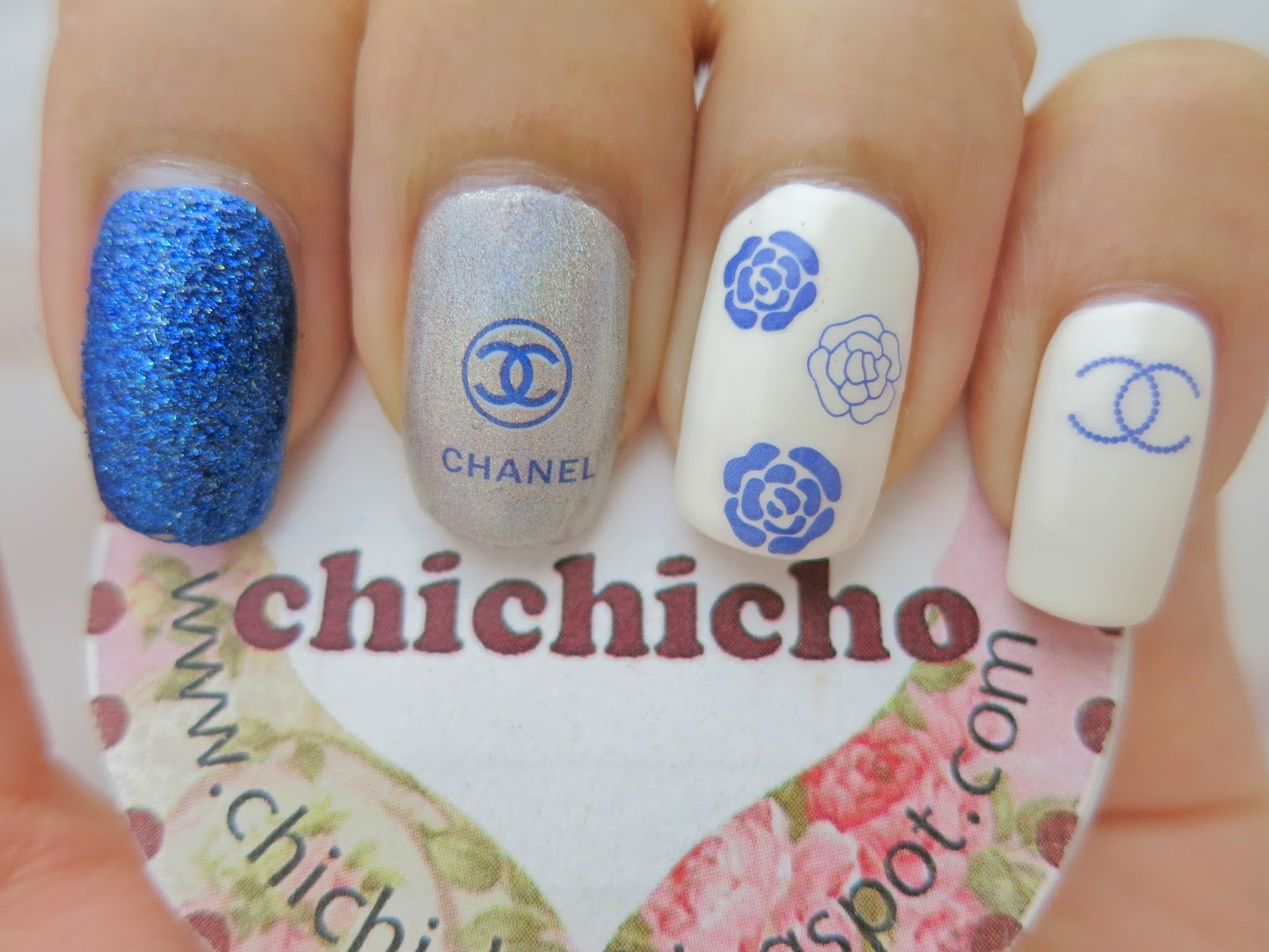 Blue Chanel Water Decal Nail Art BLE2093 - chichicho~