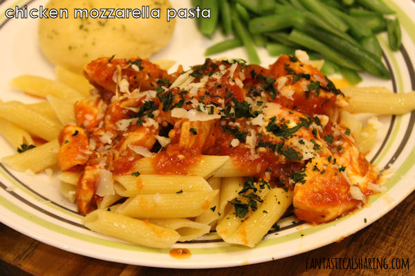 Chicken Mozzarella Pasta #recipe #pasta #chicken #maindish