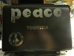 My computer; a billboard for peace that travels with me