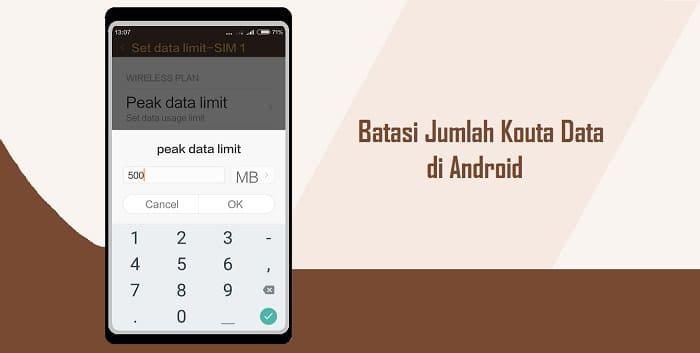 Cara Membatasi Penggunaan Paket Data di Android Secara Rutin